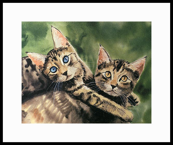 Best Friends Matted Open Edition Mini Print by Drew Stouble